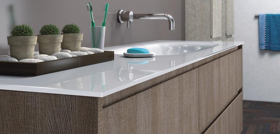 Badezimmermöbel doppelwaschbecken grau  Doppelwaschbecken - Doppelwaschtische | Badezimmer-Direkt