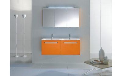 Orange Badezimmermöbel