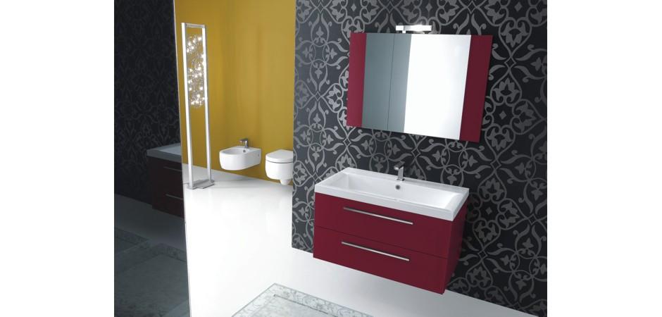 waschbecken mit unterschrank 90 cm badezimmer direkt. Black Bedroom Furniture Sets. Home Design Ideas
