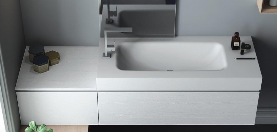 Corian Waschtisch Und Waschbecken Badezimmer Direkt