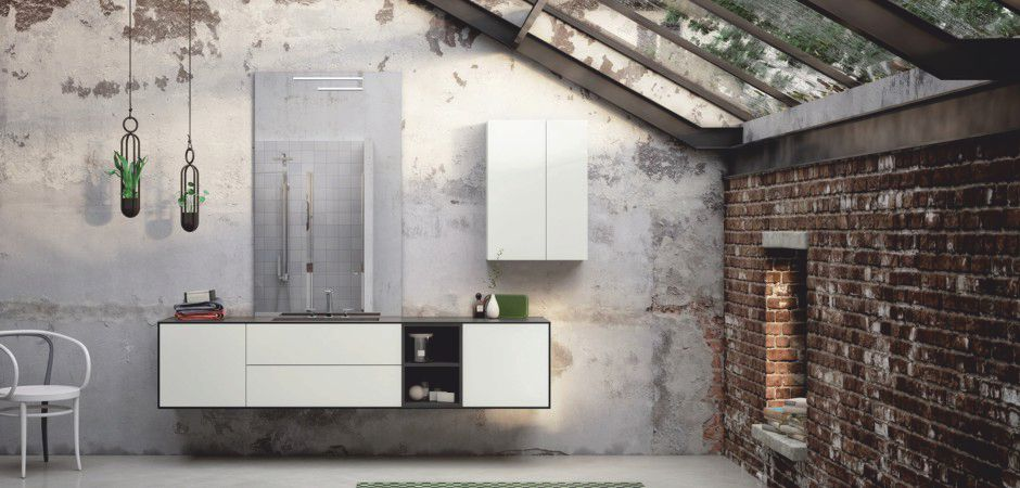 LE CORNICI 01-B   HPL-Waschtisch auf Maß 225 cm