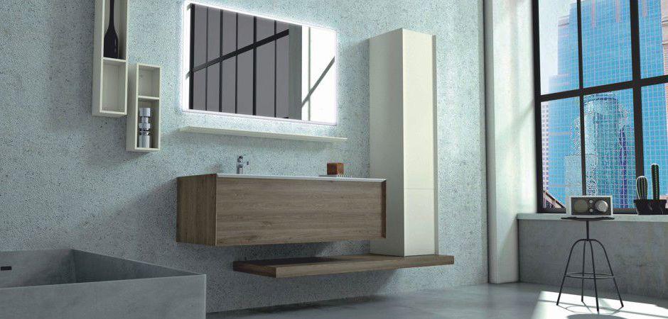 MODULA 107 | Tecnoril-Waschtisch auf Maß 124 cm