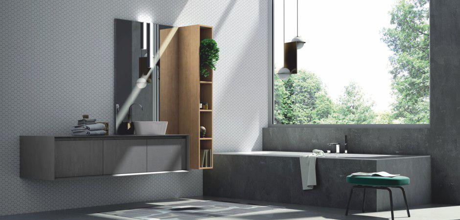 MODULA H-123 | Waschplatz mit Auflagebecken 180 cm