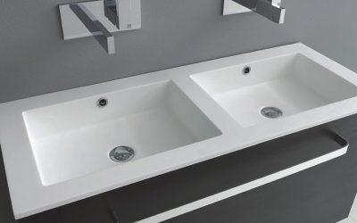 i40 11 | Doppelwaschtisch Tecnoril 100 cm x 40 cm tief
